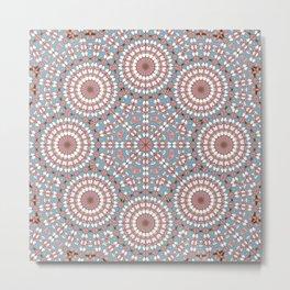 Pastel Mandala Metal Print