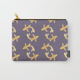 Golden Koi Pattern Carry-All Pouch