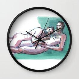 JONATHAN & DANNY, Nude Men by Frank-Joseph Wall Clock