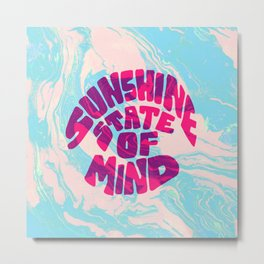 sunshine vibes, psychedelic Metal Print