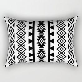 Aztec Stylized Lg Pattern II BW Rectangular Pillow
