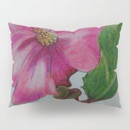 Japanese camellia, camellia, botanical art, flower, pink flower, Pillow Sham