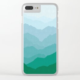 Abstract and geometric landscape 07 Clear iPhone Case