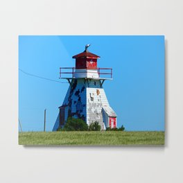 Lighthouse in Disrepair Metal Print