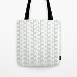 Gray Grey Seigaiha Wave Sea Salt Nautical Minimalist Tote Bag