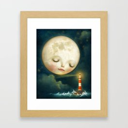 My Friend the Lighthouse Framed Art Print