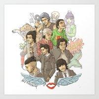 zayn malik Art Prints featuring Zayn Malik by Aki-anyway