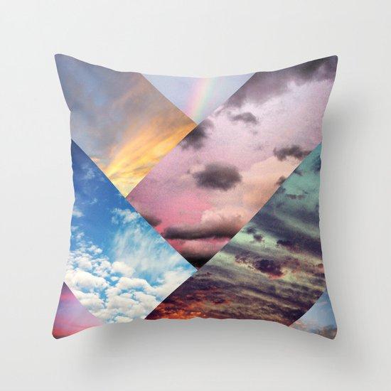 Sky Collage Throw Pillow
