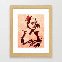 Old Woman nude Framed Art Print