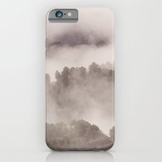 Foggy morning. Adventure at the mountains iPhone 6s Slim Case