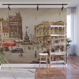 Vintage Piccadilly Circus London Wall Mural