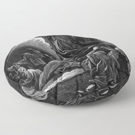 Moses Smashing the Tables of the Law - Dore Floor Pillow