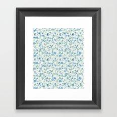 Butterfly's in a Spring Garden Framed Art Print