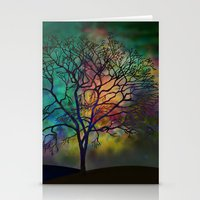 karu kara Stationery Cards featuring Celestial Phenomenon by Klara Acel