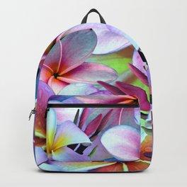 Rainbow Plumeria Backpack