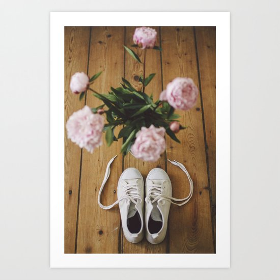 Flowers and Shoes. Art Print