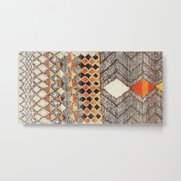 Antique African Berber Rug Print Metal Print
