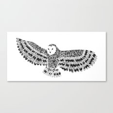 Black and White Barn Owl Beaut Canvas Print