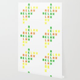 "Colorful combination of green yellow and orange tee design with text ""Relax"".Creative way to tell it Wallpaper"