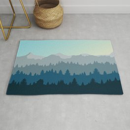 Face This Mountain (No Text) Rug