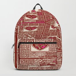 Sinking Heart Love Pattern 3 Backpack