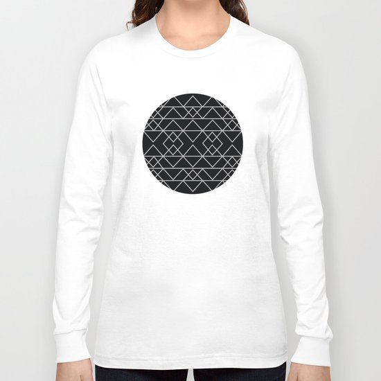 Triangles In Silver Long Sleeve T-shirt
