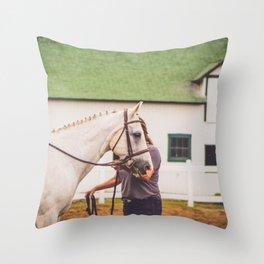 Leadline Pony Throw Pillow