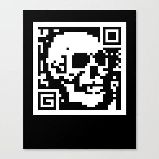 QR- Dead Canvas Print