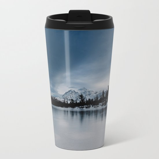 Winter Scene Metal Travel Mug