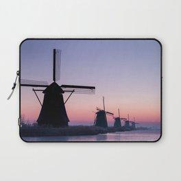 Windmills at Sunrise II Laptop Sleeve