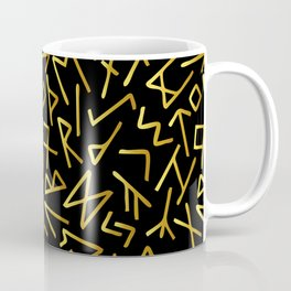 Scrambled Golden Runes Coffee Mug