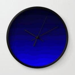 Deep Rich Sapphire Ombre Wall Clock