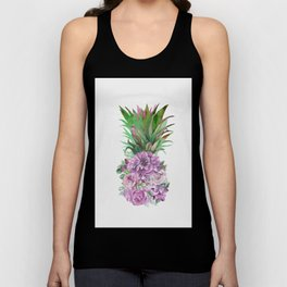 Floral Pineapple 1 Unisex Tank Top