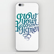 Grow Your Own Designer iPhone & iPod Skin