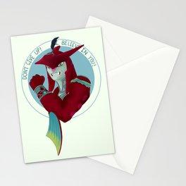 Motivational Shark Prince Stationery Cards