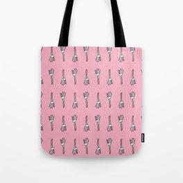 Skeletal Hand Pink #Halloween Tote Bag