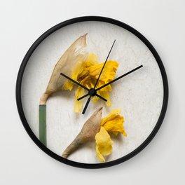 Daffodil 2 Wall Clock