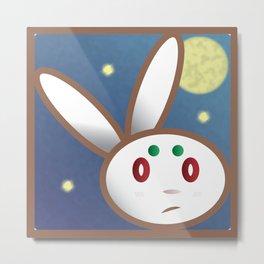 Grumpy Bunny Metal Print