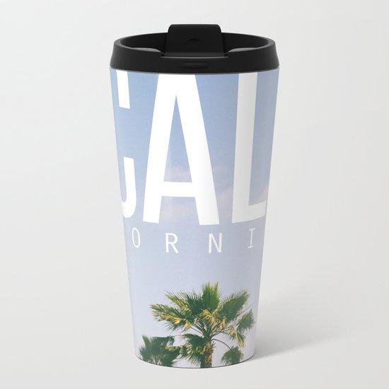 CALI FORNIA Metal Travel Mug