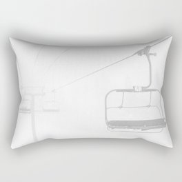 Snow Day Lift // Copper Mountain Colorado Skilift Whiteout Snowing Powder Conditions Rectangular Pillow