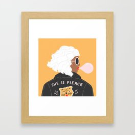 She Is Fierce Framed Art Print