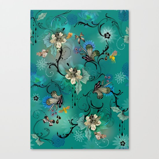 The Butterflies & The Bees  Canvas Print