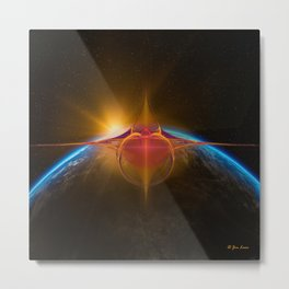 Star Rider Earth Metal Print