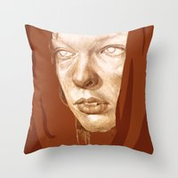 fifth element Throw Pillows featuring The Fifth Element by Doruktan Turan
