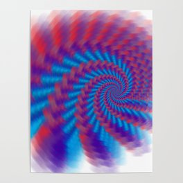 Abstract fractal patterns and shapes. Fractal texture, background image. Poster