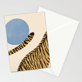 Jumping tigers  Stationery Cards