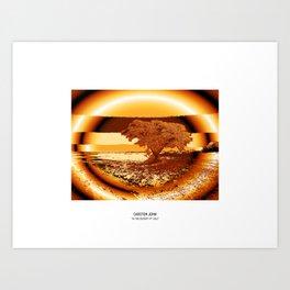 IN THE DESERT IV Art Print