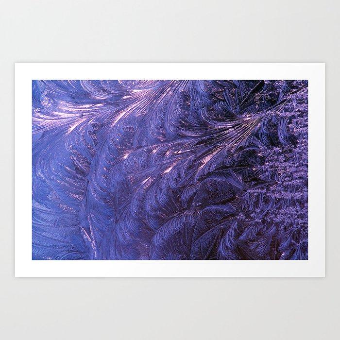 Ice Fractals 2 Art Print