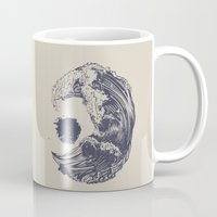 waves Mugs featuring Swell by Huebucket