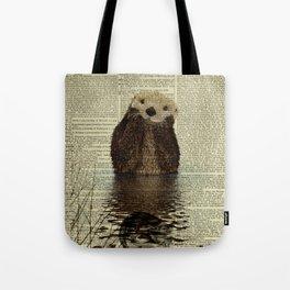 Otter in Love Tote Bag